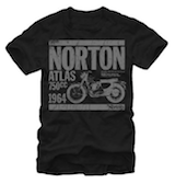 Norton Motorcycles 1964 Atlas 750CC Vintage Style Adult T-Shirt Tee